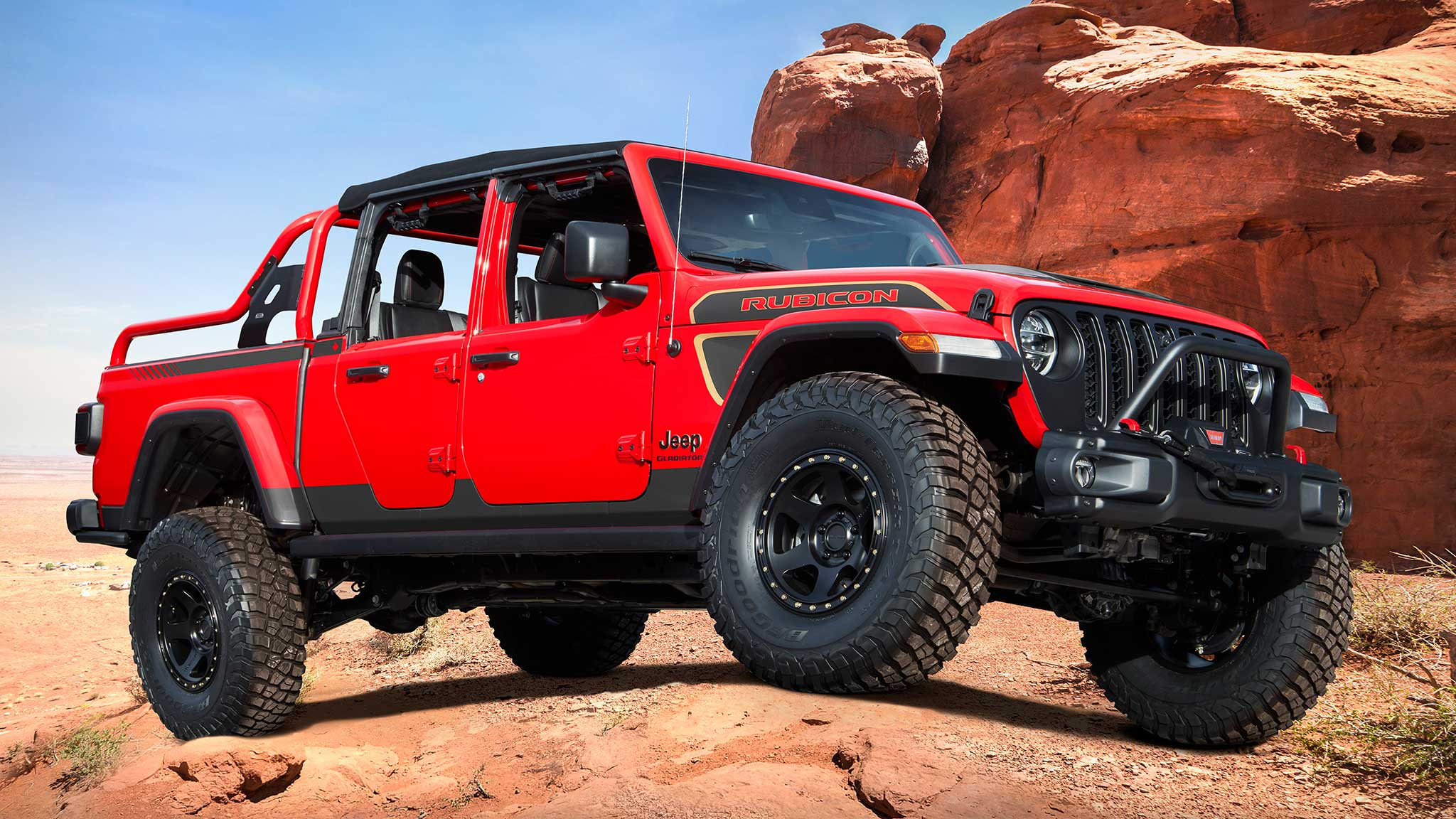 Jeep Gladiator Red Bare Concept