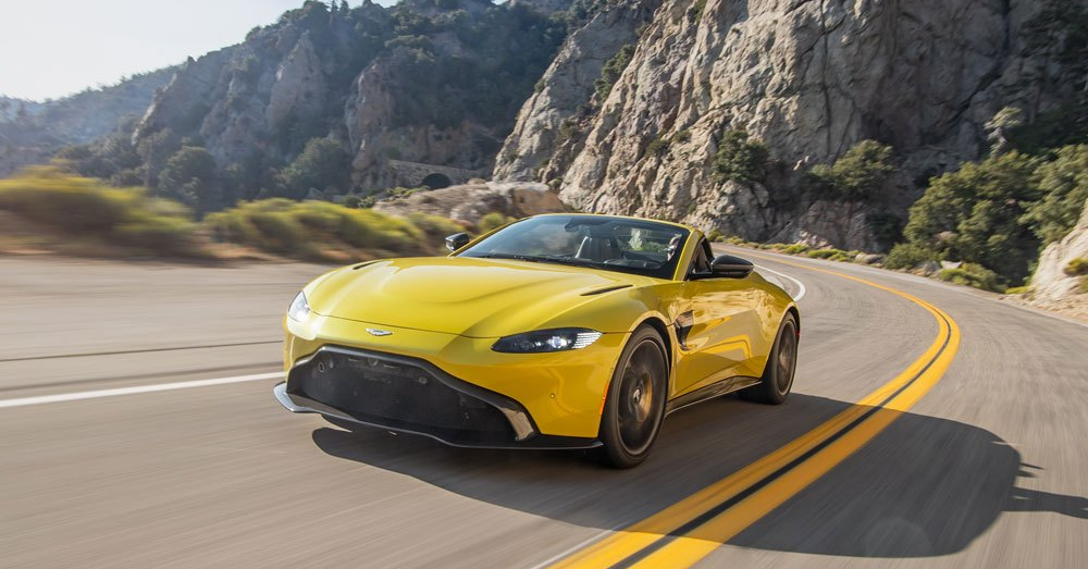 The Aston Martin Vantage Roadster Looks Excellent in Yellow